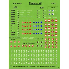 French 1940 AFV Markings for Hotchkiss H35 & H39