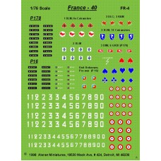 French 1940 AFV Markings for Panhard P178 & Schneider P16 ACs