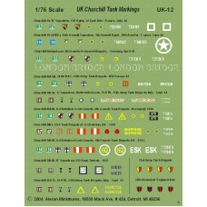 British Churchill Tank Markings (1 Sheet)