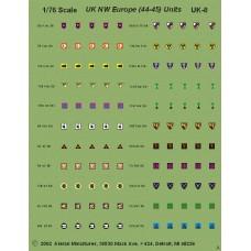 British AFV Unit Insignia for Divisions and Brigades - Europe '44-45