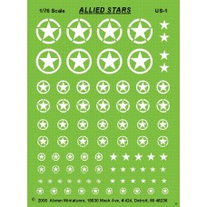 Allied White Stars in various sizes etc.