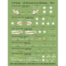 """US Sherman """"Ace"""" Markings"""