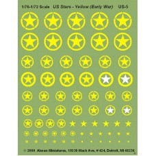 US Stars - Yellow-Early War (1 Sheet)