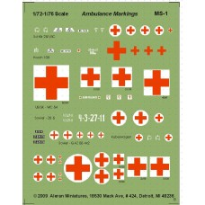Ambulance Markings for various Nations and Vehicle types