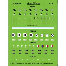 Axis AFV Markings for Finland, Bulgaria, Slovakia & Croatia