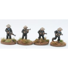 Vietcong in straw hats with AK47 set A (4 Figures)