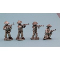 Vietcong in straw hats with AK47 set B (4 Figures)