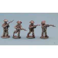 Vietcong in straw hats with SKS rifles (4 Figures)