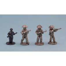 Vietcong in straw hats with US M1 Carbines (4 Figures)