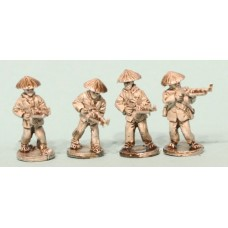 Vietcong in straw hats with RPD LMGs (4 Figures)