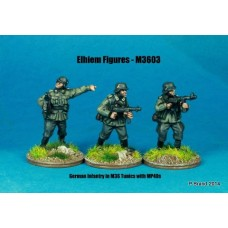 German Infantry in M36 uniform NCOs with MP40s skirmishing (3 Figures)