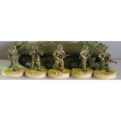 British squad command in windproof smocks (5 Figures)