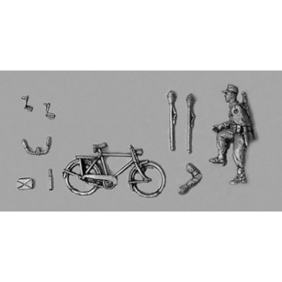 Hitler youth Volkssturm riding bike (1 Figure & 1 Bike)