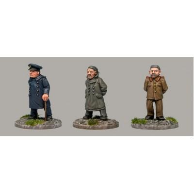 World War II leaders (3 Figures)