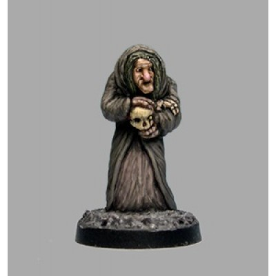 Old Hag, witch with skull (1 Figure)