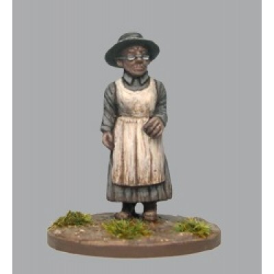 Old woman wearing hat and spectacles (1 Figure)