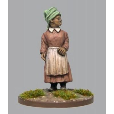 Woman wearing head scarf (1 Figure)