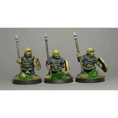 Celtic Dwarfs with spears (3 Figures)