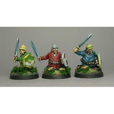 Celtic Dwarf swords with helmet & tunic (3 Fgiures)