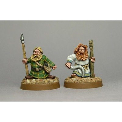 Dwarf druid & apprentice (2 Figures)