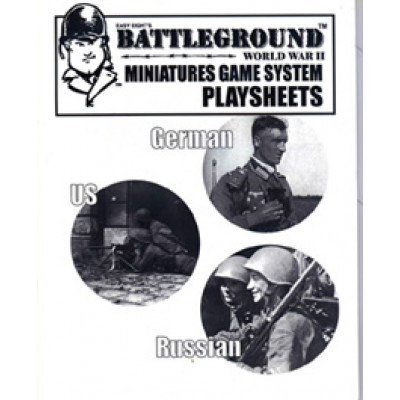Battleground World War II Miniature Game System Playsheets
