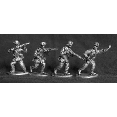 French Cavalry Motorcyclists / Infanterie Motorisee skirmishing (4 Figures)