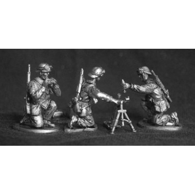 French Cavalry Motorcyclists / Infanterie Motorisee mortar team (4 Figures)